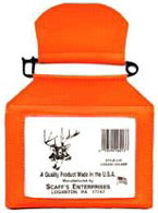 Scaff/'s Enterprises 5F Fluorescent Blaze Orange Plastic Hunting License Holder
